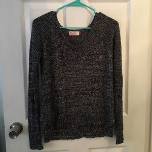 Women's black and white sweater